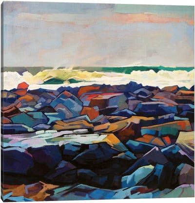 Tullaghan Shoreline, Storm Emma Canvas Art Print