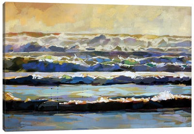 Whitewater At Rossnowlagh Beach Canvas Art Print