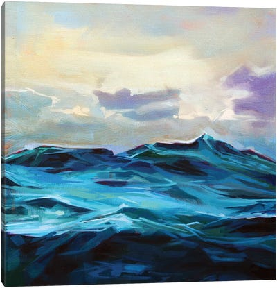 Choppy Waters At Easkey Canvas Art Print