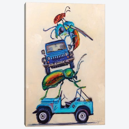 Jeeps & Beetles Canvas Print #KWB11} by Karen Weber Canvas Print