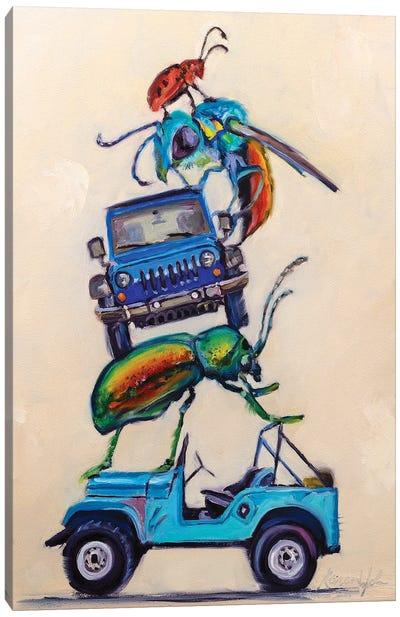 Jeeps & Beetles Canvas Art Print