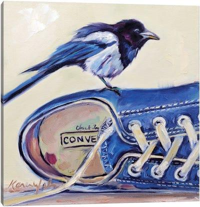 Magpie Conversation Canvas Art Print