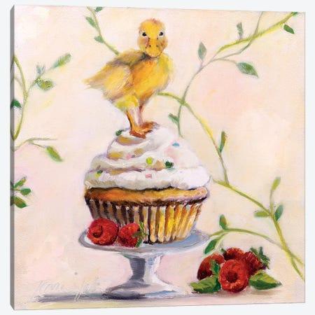 Sweet Raspberry Good Luck Cake Canvas Print #KWB23} by Karen Weber Canvas Artwork
