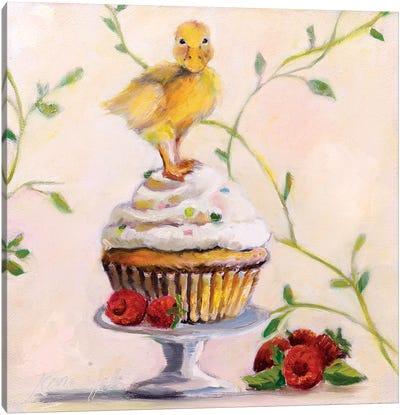 Sweet Raspberry Good Luck Cake Canvas Art Print