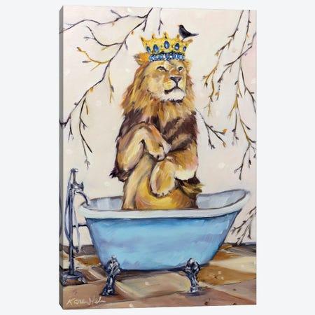 Scrub Like A Lion Canvas Print #KWB24} by Karen Weber Art Print