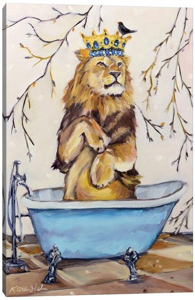 Scrub Like A Lion Canvas Art Print