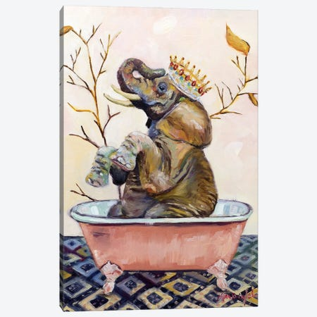 Splish Splash Ellie Bath Canvas Print #KWB26} by Karen Weber Canvas Art Print