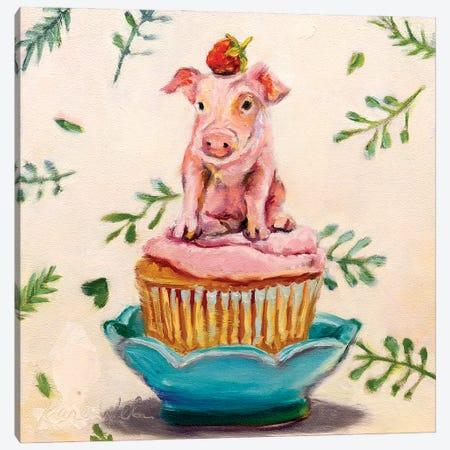 Berry Piglet Cake Canvas Print #KWB2} by Karen Weber Canvas Art Print