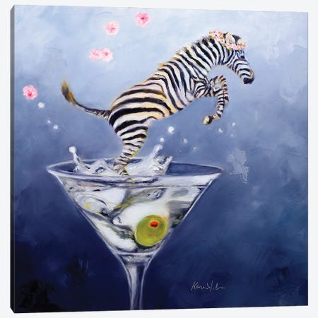 Zebratini 3-Piece Canvas #KWB32} by Karen Weber Canvas Print