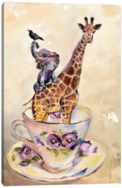 Savanna In A Teacup Canvas Art Print
