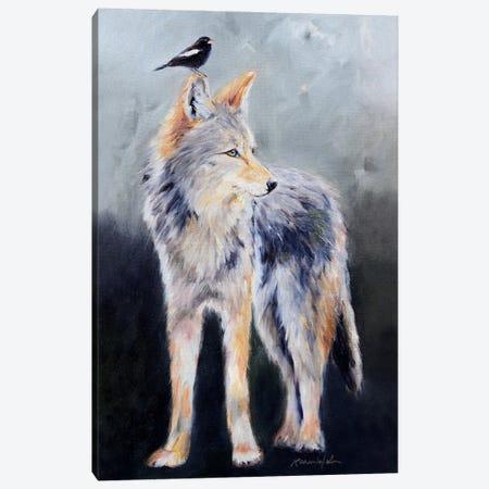 Coyote Spirit Canvas Print #KWB3} by Karen Weber Art Print