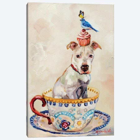 Pitty Party Canvas Print #KWB40} by Karen Weber Canvas Wall Art