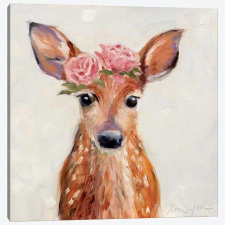 Rosey Fawn 3-Piece Canvas #KWB41} by Karen Weber Canvas Artwork