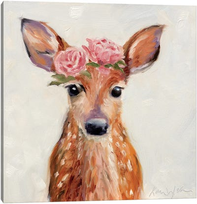 Rosey Fawn Canvas Art Print