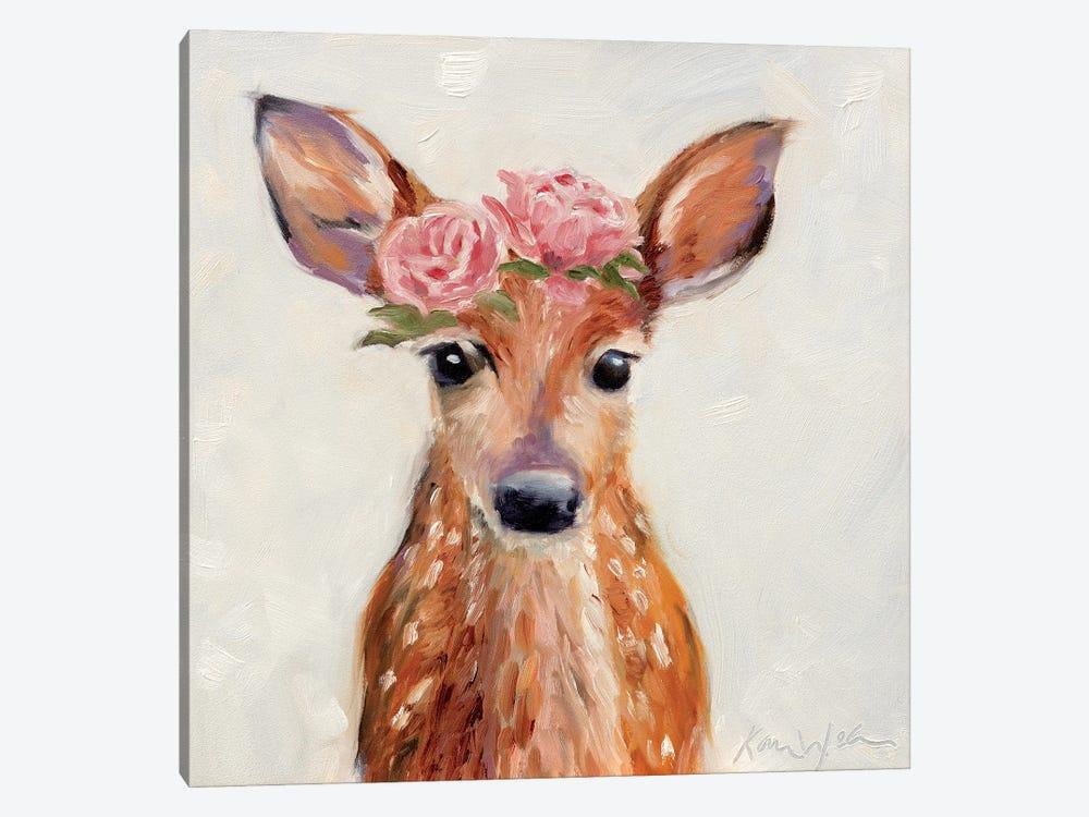 Rosey Fawn by Karen Weber 1-piece Canvas Artwork
