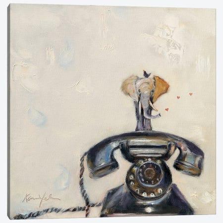 Telephant Canvas Print #KWB49} by Karen Weber Canvas Art