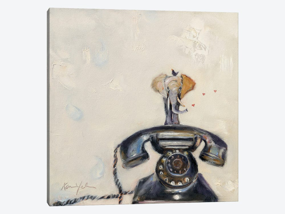 Telephant by Karen Weber 1-piece Canvas Wall Art