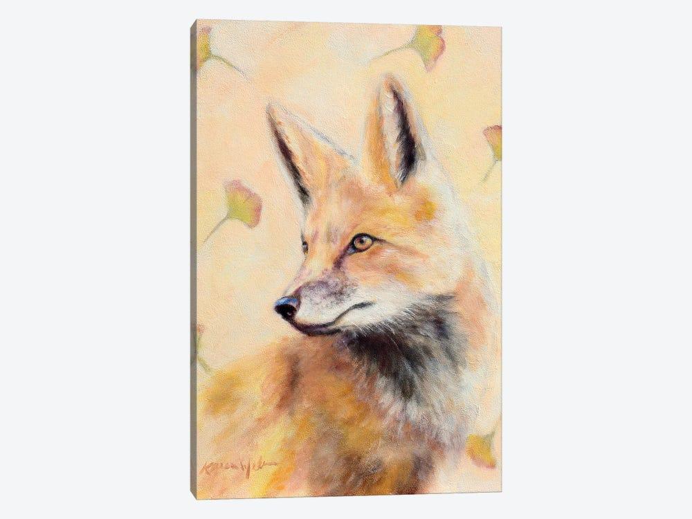 Red Fox Gingko by Karen Weber 1-piece Canvas Print