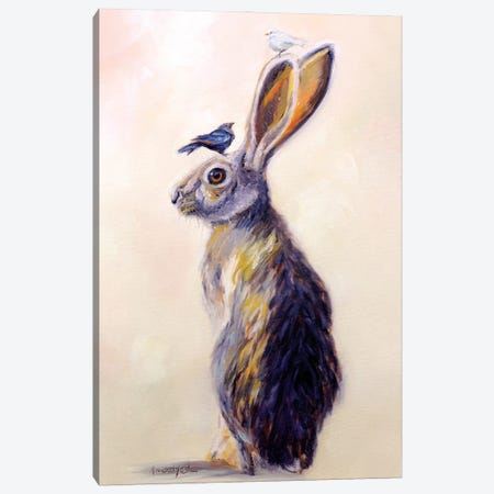 Hare Style Canvas Print #KWB9} by Karen Weber Canvas Print