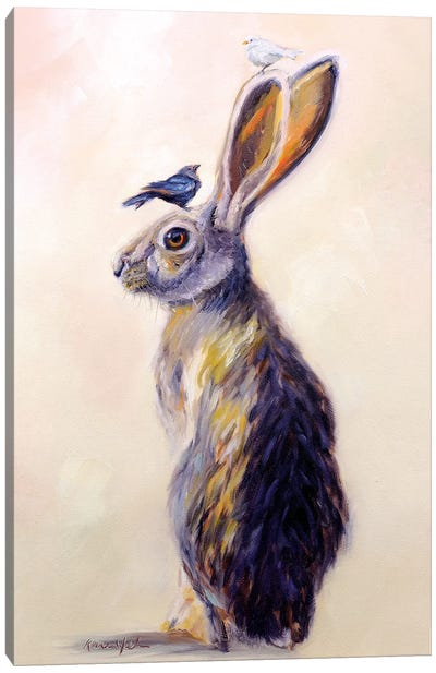 Hare Style Canvas Art Print