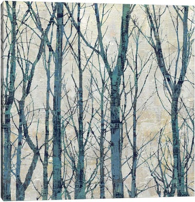 Through The Trees - Blue I Canvas Art Print