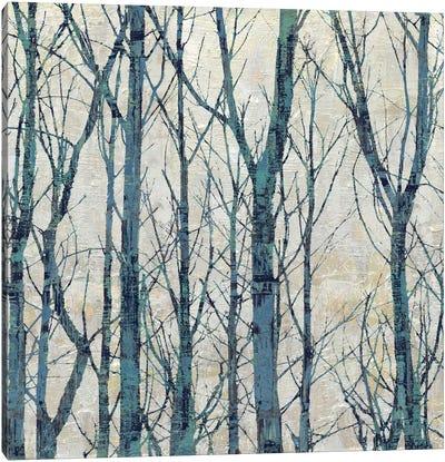 Through The Trees - Blue I Canvas Art Print