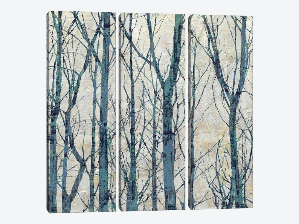 Through The Trees - Blue I by Kyle Webster 3-piece Canvas Art Print