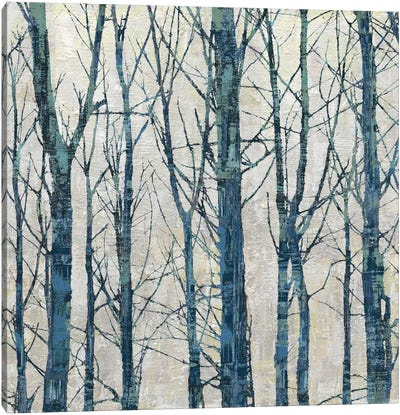 Through The Trees - Blue II Canvas Art Print