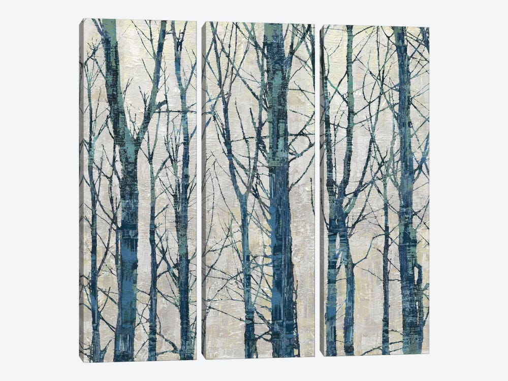 Through The Trees - Blue II by Kyle Webster 3-piece Canvas Artwork