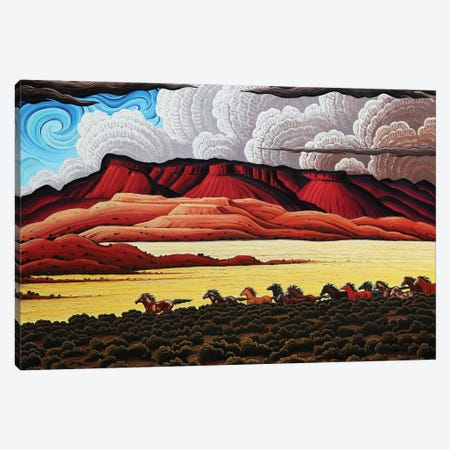 Wild Horses In The Canyonlands Canvas Print #KWG13} by Kim Douglas Wiggins Canvas Wall Art