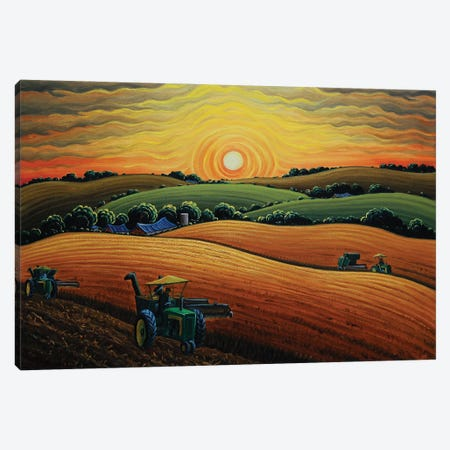 Days End At Harvest Canvas Print #KWG14} by Kim Douglas Wiggins Canvas Art Print