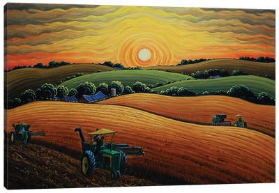Days End At Harvest Canvas Art Print
