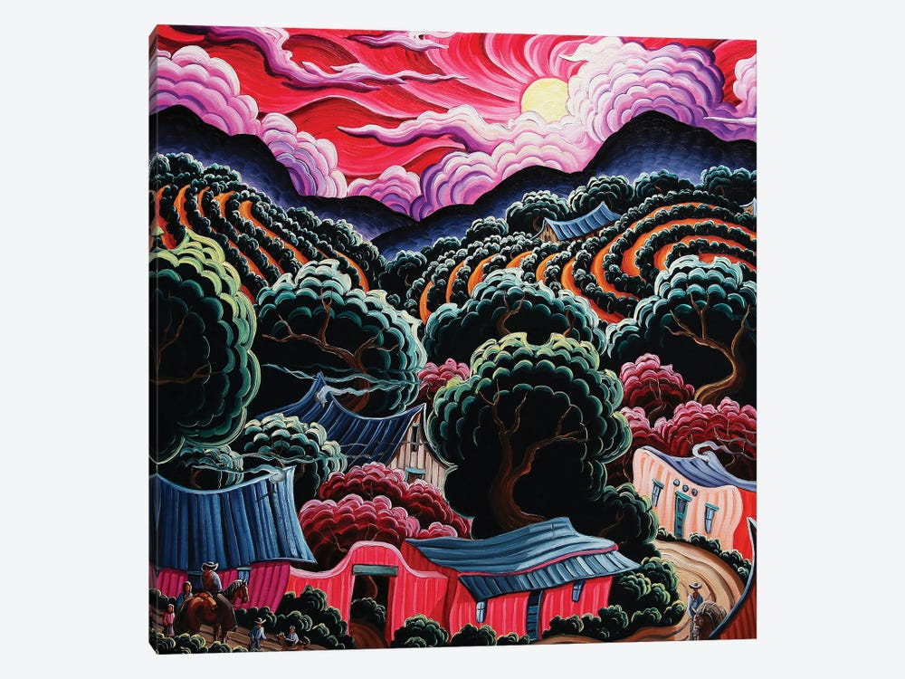 Once In The Land Of Red Wine by Kim Douglas Wiggins 1-piece Art Print