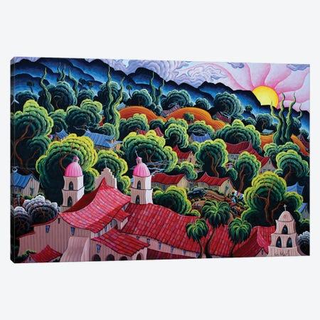 Mission Santa Barbara Canvas Print #KWG17} by Kim Douglas Wiggins Canvas Art Print