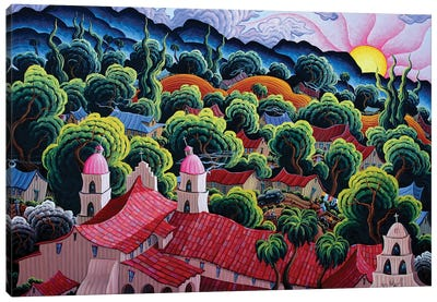 Mission Santa Barbara Canvas Art Print