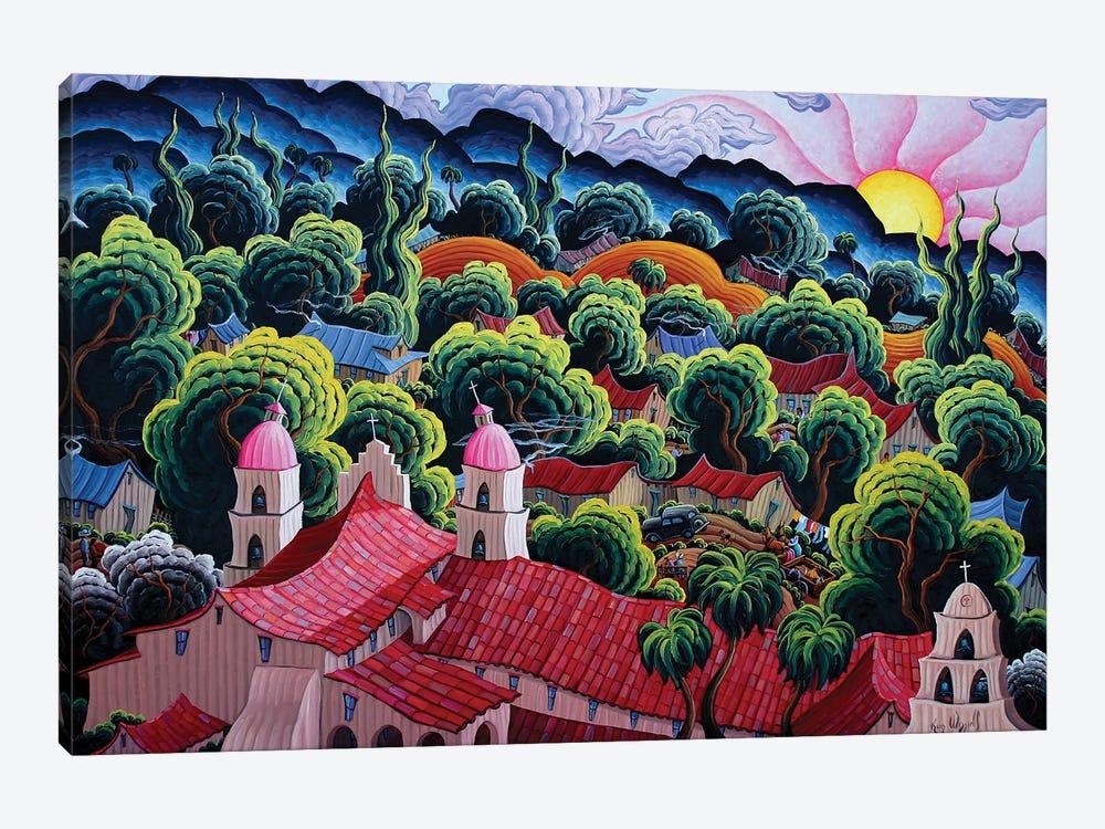 Mission Santa Barbara by Kim Douglas Wiggins 1-piece Canvas Print