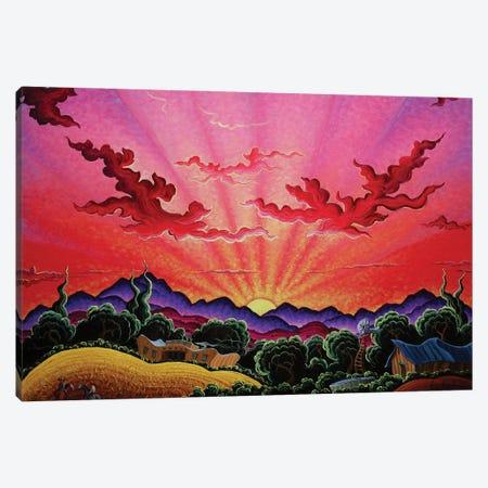 A Ride At Daybreak Canvas Print #KWG1} by Kim Douglas Wiggins Canvas Art