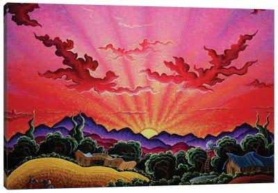 A Ride At Daybreak Canvas Art Print