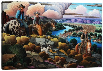 Cattle Kings Of The Pecos Canvas Art Print