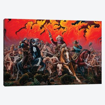 Fleeing Hell's Fury - Range Fire Canvas Print #KWG23} by Kim Douglas Wiggins Art Print