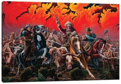 Fleeing Hell's Fury - Range Fire Canvas Art Print