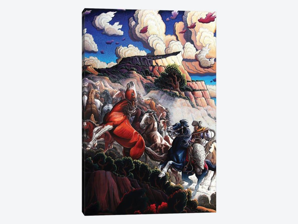 Frank Chisum - Wild West Icon by Kim Douglas Wiggins 1-piece Canvas Artwork