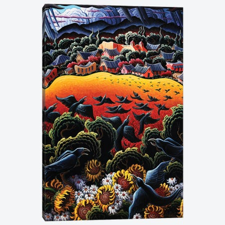 A Song In The Garden Of Taos Canvas Print #KWG4} by Kim Douglas Wiggins Art Print