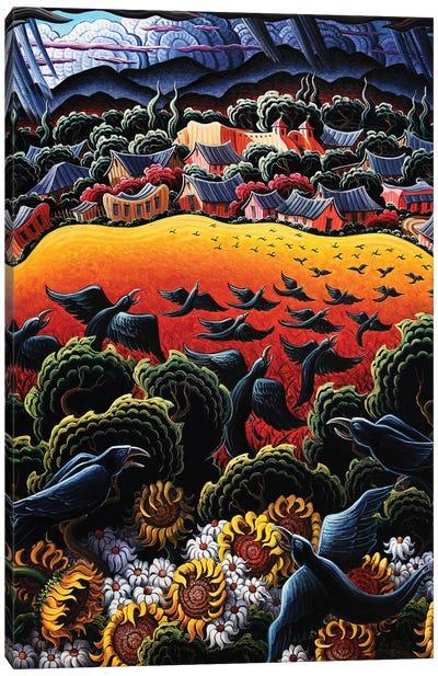 A Song In The Garden Of Taos Canvas Art Print