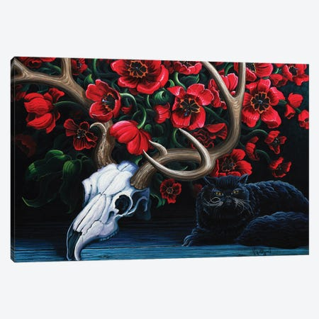 Black Cat Canvas Print #KWG51} by Kim Douglas Wiggins Canvas Artwork