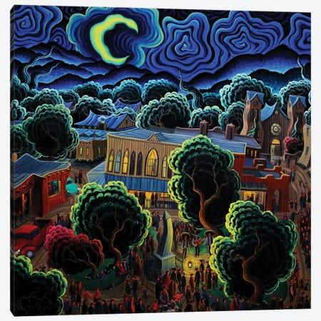 The Magic Of A Santa Fe Night Canvas Print #KWG6} by Kim Douglas Wiggins Canvas Print