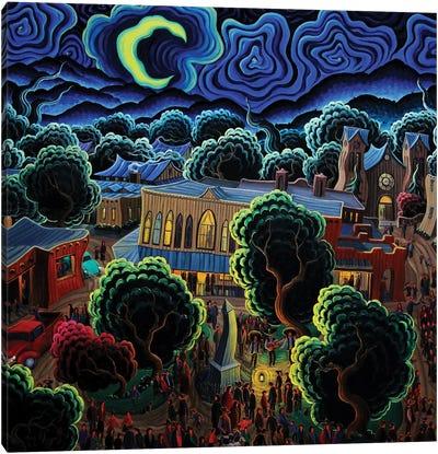 The Magic Of A Santa Fe Night Canvas Art Print