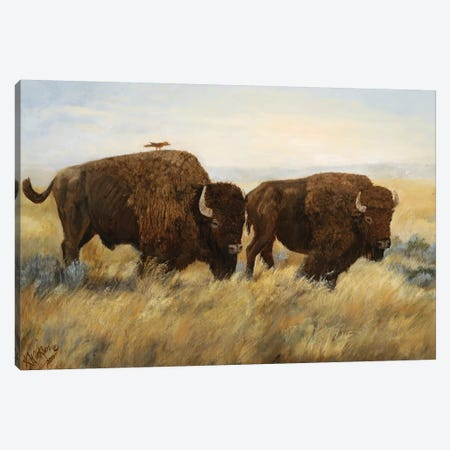 Hitchhiker I 3-Piece Canvas #KWI14} by Kathy Winkler Art Print