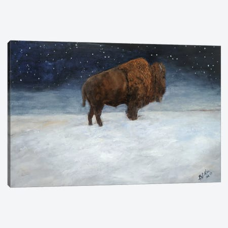 Journey Through the Snow I Canvas Print #KWI18} by Kathy Winkler Canvas Wall Art