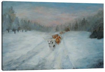 Journey Through the Snow IV Canvas Art Print